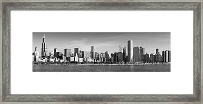 Windy City Morning Framed Print by Donald Schwartz
