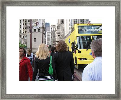 Windy City Walkabout Framed Print by Sylvia Wanty
