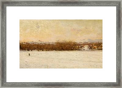 Windy Day After A Snowstorm Framed Print