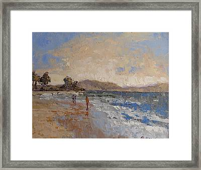 Windy Day At Sea Framed Print by Yvonne Ankerman