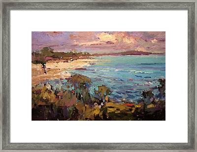 Windy Day In Kailua Framed Print by R W Goetting