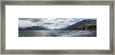Framed Print featuring the photograph Windy Day On Lake Wakatipu by Gary Eason