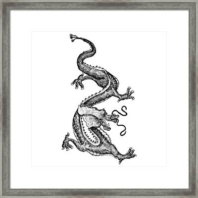 Windy Dragon Framed Print