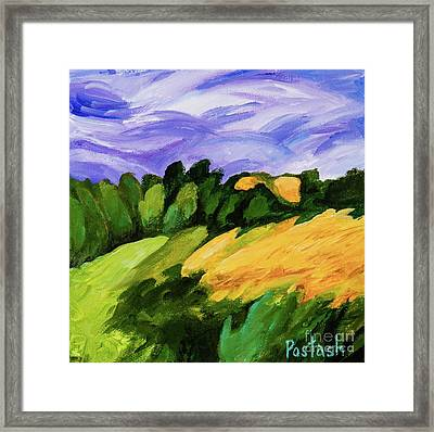 Framed Print featuring the painting Windy by Igor Postash