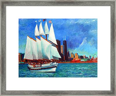 Windy In Chicago Framed Print by Michael Durst
