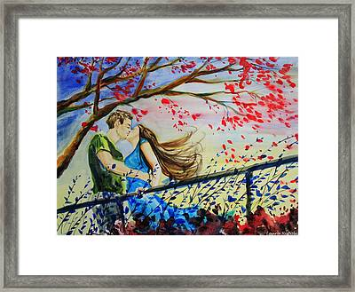 Windy Kiss Framed Print by Laura Rispoli