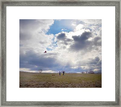 Windy Kite Day Framed Print by Bill Cannon