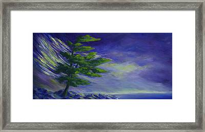 Windy Lake Superior Framed Print by Joanne Smoley