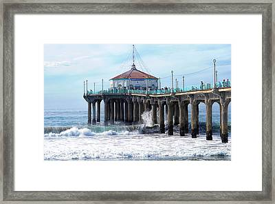 Windy Manhattan Pier Framed Print