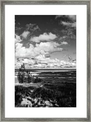Framed Print featuring the photograph Windy Morning On Lake Michigan by Michelle Calkins