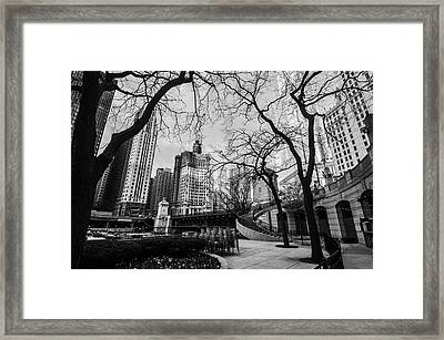 Windy Mornings In The Chi  Framed Print