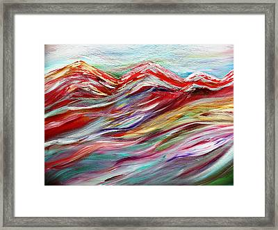 Windy Mountain Day Framed Print by Amy Drago