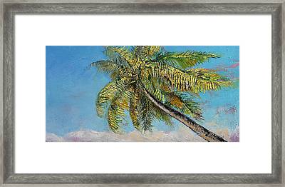 Windy Palm Framed Print by Michael Creese