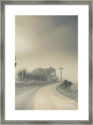 Windy Paths To Destinations Unknown Framed Print