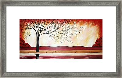 Windy Red River Framed Print by Peggy Davis
