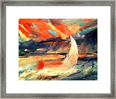 Windy Sail Framed Print