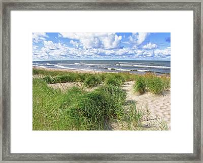 Framed Print featuring the photograph Windy Shoreline by Kathi Mirto