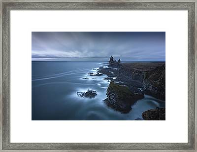 Windy Swirls Framed Print