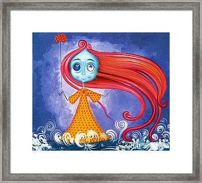 Windy - The Girl Of The Wind Framed Print by Tiberiu Soos