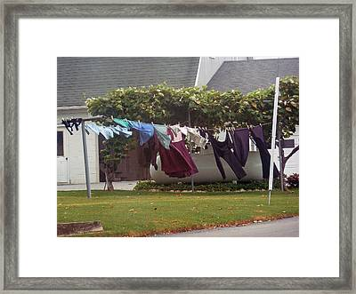 Windy Washday Framed Print