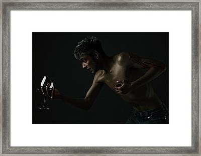 Wine And Blood Framed Print