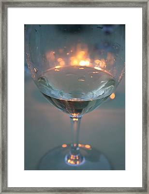 Wine And Candlelight Framed Print by Gail Salitui