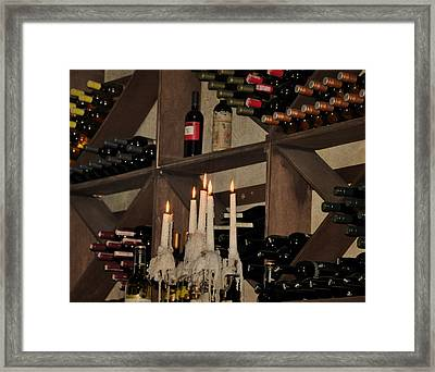 Wine And Candles  Framed Print by Rose  Hill