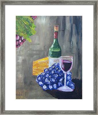 Wine And Cheese Framed Print by Craig Wade