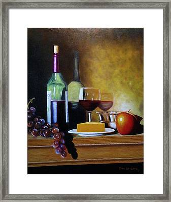 Wine And Cheese Framed Print by Gene Gregory