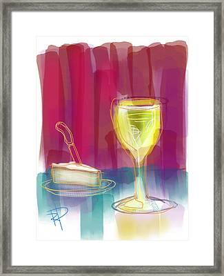 Wine And Cheese Framed Print by Russell Pierce