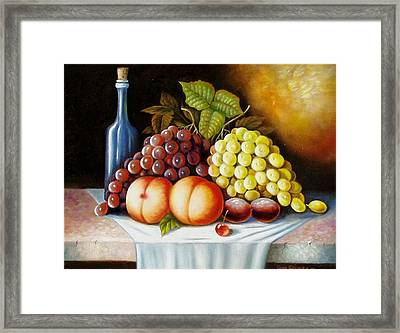 Framed Print featuring the painting Wine And Dine by Gene Gregory