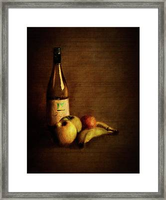 Wine And Fruit Framed Print