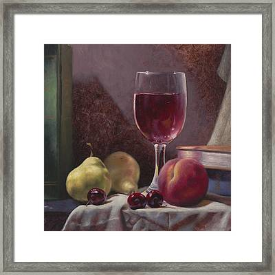 Wine And Fruit Framed Print