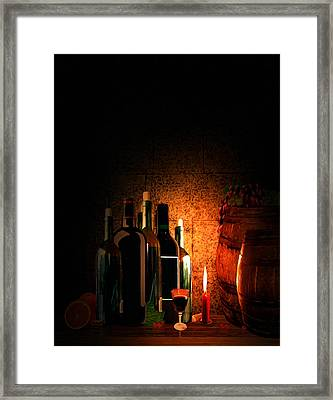 Wine And Leisure Framed Print by Lourry Legarde