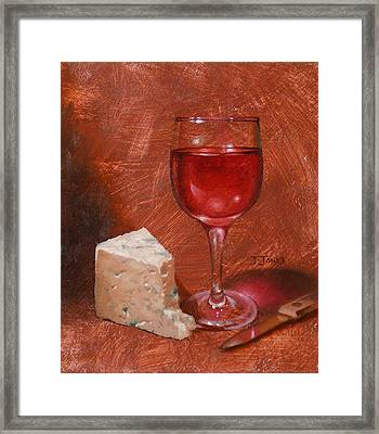 Wine And Stilton Framed Print by Timothy Jones