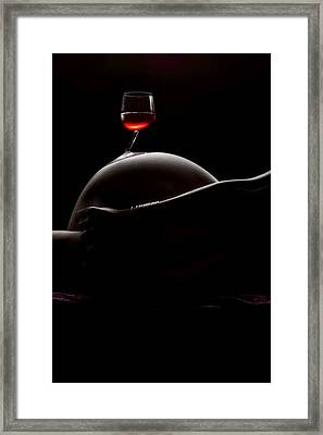Wine And Women Framed Print by Naman Imagery