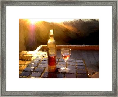 Wine At The Ranch Framed Print by Tim Tompkins