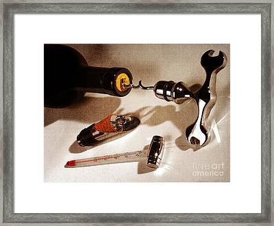 Wine Bar Decor Framed Print by Stefano Senise