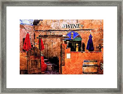 Framed Print featuring the photograph Wine Bar Of The Southwest by Barbara Chichester