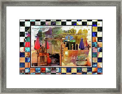 Wine Bar Southwest Style Framed Print