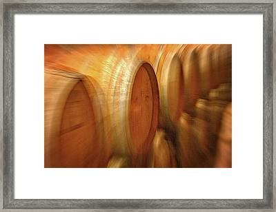 Wine Barrels Abstract Framed Print