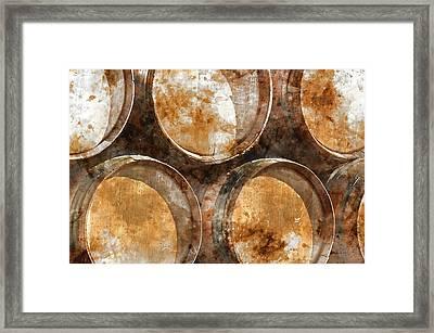 Wine Barrels Framed Print by Brandon Bourdages