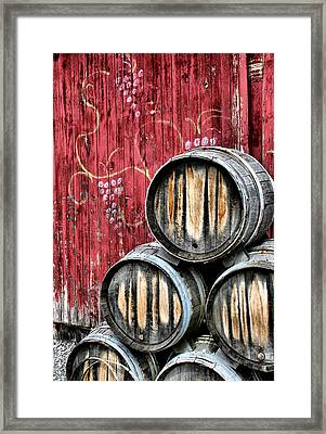 Wine Barrels Framed Print