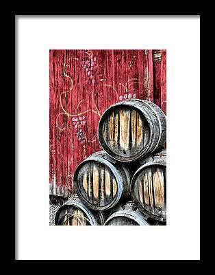 Wine Barrel Framed Prints