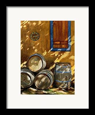 Barrel Framed Prints