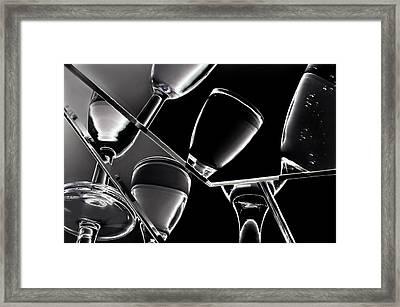 Wine Black Glasses With Drinks Framed Print by   larisa Fedotova