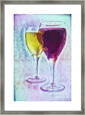 Wine Blends Framed Print by Jean OKeeffe Macro Abundance Art