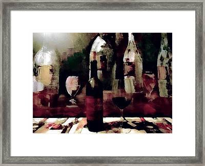 Wine Bliss Framed Print