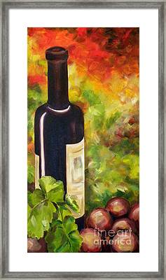 Wine Bottle Framed Print by Gale Patterson