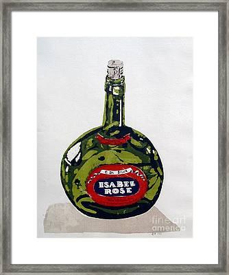 Wine Bottle Framed Print by Ron Bissett